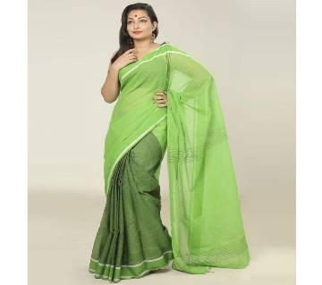Light Green color Handloom cotton Saree