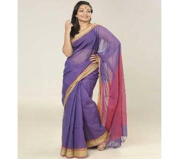 Violet & Dark Pink color  handloom cotton Saree