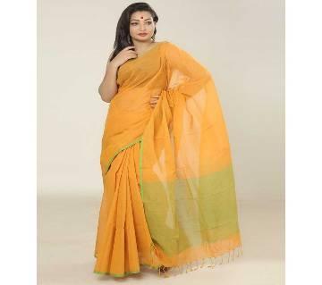 Mustard color handloom cotton Saree