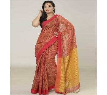 Red & Yellow color handloom cotton Saree