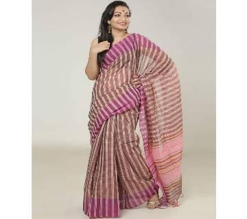 Magenta color handloom cotton