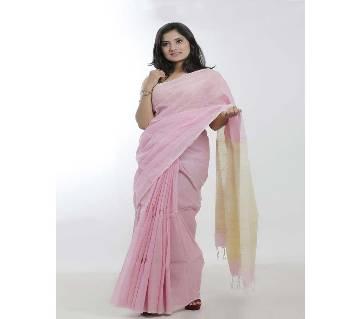 Pink Color pure Endi cotton saree