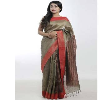 Red color pure rayon silk  Saree