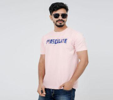 Masculine Light pink T-shirt For men