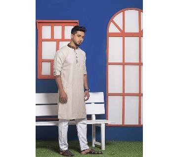 Menz Cotton Semi Long Panjabi - 4