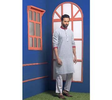 Menz Cotton Semi Long Panjabi - 9