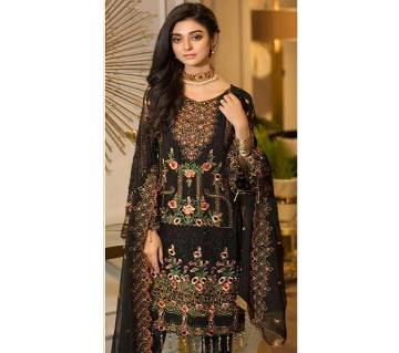 Ramsha Premium Collection By Shree Fabs Unstitched Faux Georgette Three piece