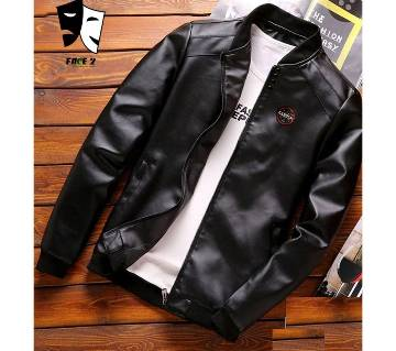 Artificial Leather Mens Winter Jacket
