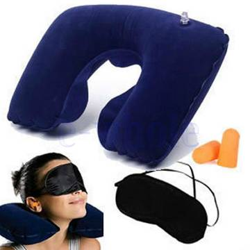 Inflatable Travel Pillow Neck Rest Support Cushion
