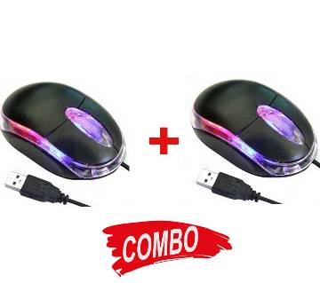Mini Dell Mouse in USB (2 Pieces)