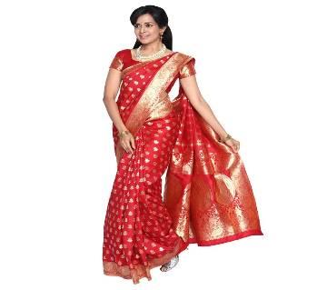 red benaorsi saree
