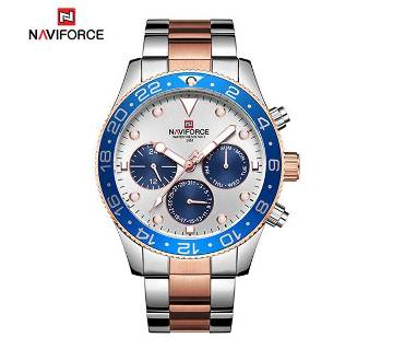 NAVIFORCE 9147 RoseGold Stainless Steel Chronograph Watch For Men