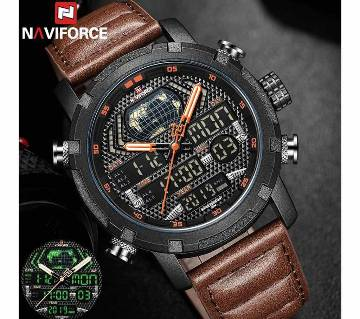 NAVIFORCE 9160 PU LEATHER WATCH FOR MEN