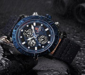NAVIFORCE NF9139 Luxury Brand Leather Strap Waterproof Wrist Watch for Men 2019