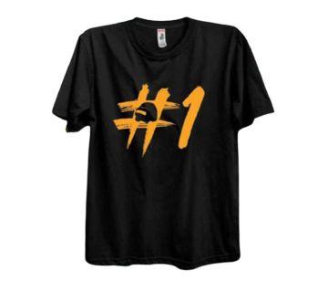 No.1 Half Sleeve Round Neck T Shirt For Men