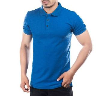 Solid Color Half Sleeve Cotton Polo Shirt For Men