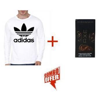 Full Sleeve Cotton T-shirt + AXE Perfume Combo
