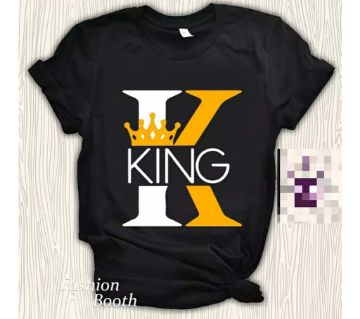 King Half Sleeve Round Neck T Shirt For Men