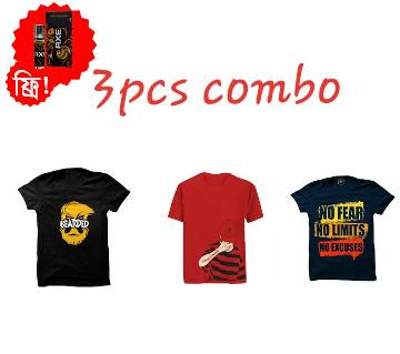 Half Sleeve Round Neck T Shirt For Men (3 pcs Combo Offer) -  Ator Free