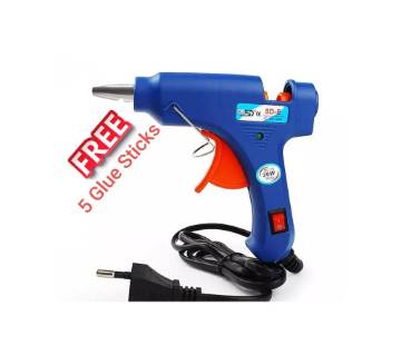 Glue gun with 5 stick