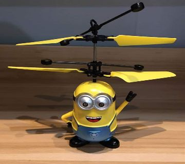 Minion flying helicopter