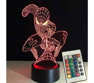 Creative 3D lamp 7 color remote control light