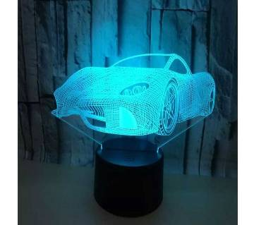 3D Car creative lamp visualization light remote control