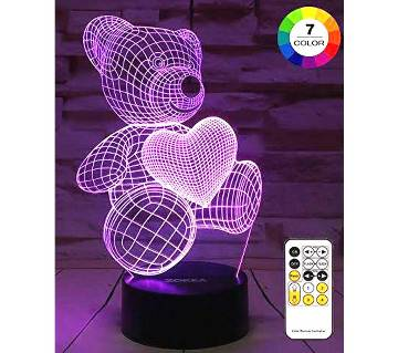 Creative Lamp 3D visualization teddy remote 7 colors