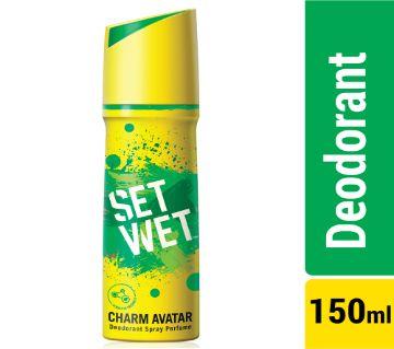 Set Wet Body Spray Deodorant Perfume Charm Avatar - 150ml