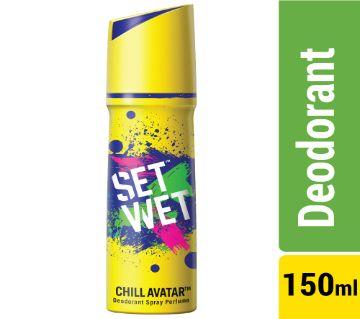 Set Wet Body Spray Deodorant Perfume Chill Avatar - 150ml