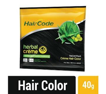 Hair Code Hair Color Herbal Hair Crème Natural Black 40g