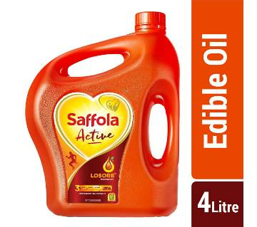 Saffola Active Oil (Blended Edible Vegetable Oil) - 4 Litre