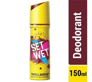 Set Wet Body Spray Deodorant Perfume Thrill Avatar - 150ml