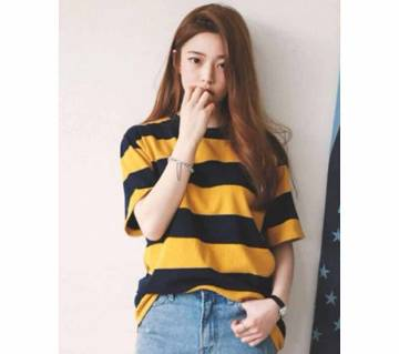 Summer T Shirt Striped O Neck Loose Tops T Shirts For Women