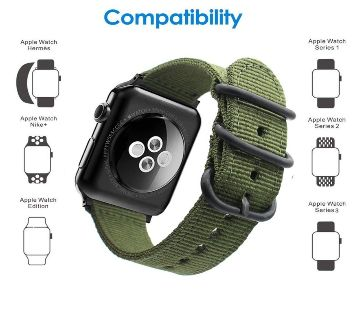 42mm/44mm Luxury Canvas Nylon straps for Apple iWatch Band Series 5/4/3/2/1