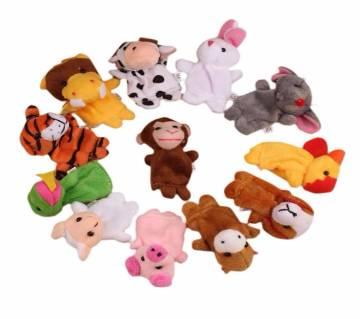 12Pcs Soft Animal Puppet Finger Toys