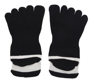 1 Pair Cotton Toe Cover Athletic Mesh Socks