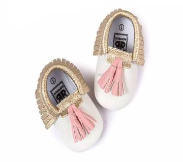 Pu Leather  Baby Girl Tassel Soft  Shoes