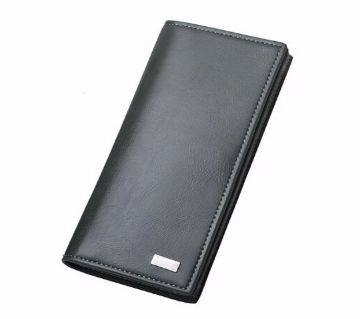 Leather long zipper card holder wallet for Men