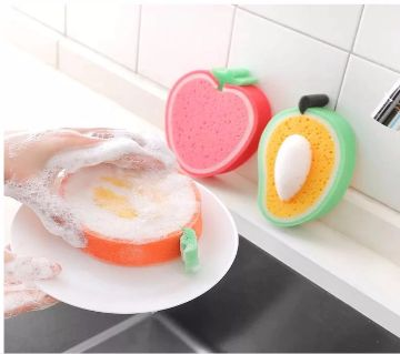 1 Pcs Magic 3D fruit strong Sponge Dish Bowl  Cleaning Tool