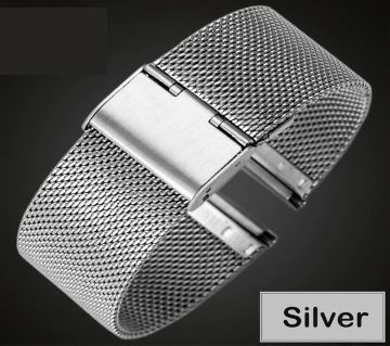 22mm Universal Single Buckle Stainless Steel Replacement Watch Straps