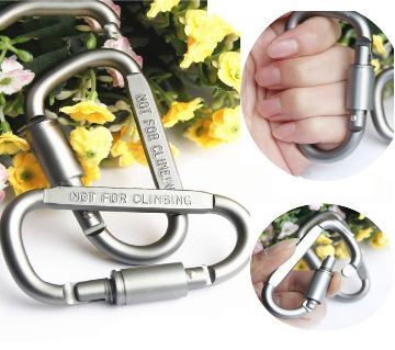1 pcs Aluminum Alloy D-Type Hanging Buckle With Lock Tool Equipment