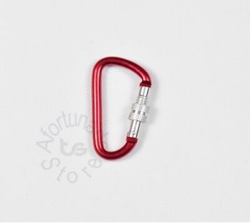 1pcs D-Shaped Aluminium Mountaineering buckle With Lock