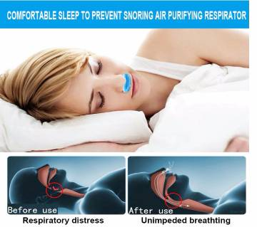 2 in 1 Health Anti Snoring & Air Purifier Relieve Nasal Congestion Anti-snoring Nose Clip