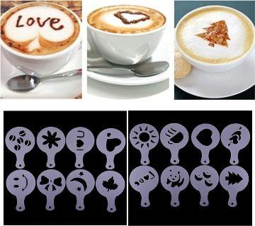 16PCS Coffee,Cake Baking Printing decoration Mold Set Gadgets Cake Baking Tools