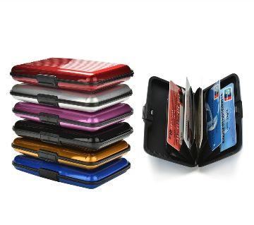RFID Blocking Aluminum Credit Card Wallet Hard Case