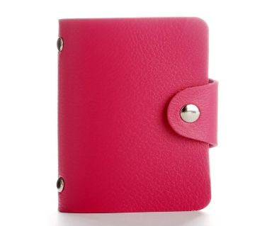 PU Leather 24 Bits Business Card Holder Wallets