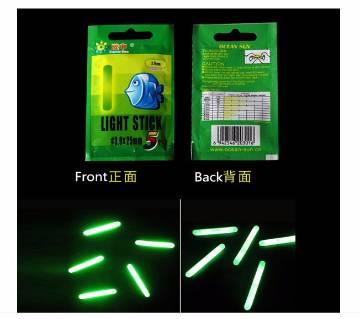 5Pcs Lightstick dark glow Fishing float stick