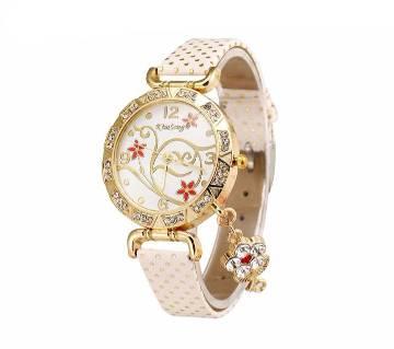Leather Quartz Bracelet Watch