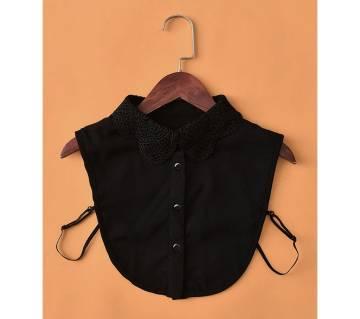 Vintage Lace Womens Chiffon Collar Mini Shirt